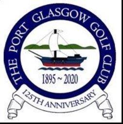 Port Glasgow Golf Club hosts senior competition