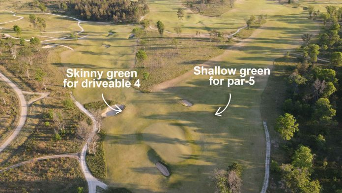 That's how it is to play The Loop at Forest Dunes, a reversible golf course