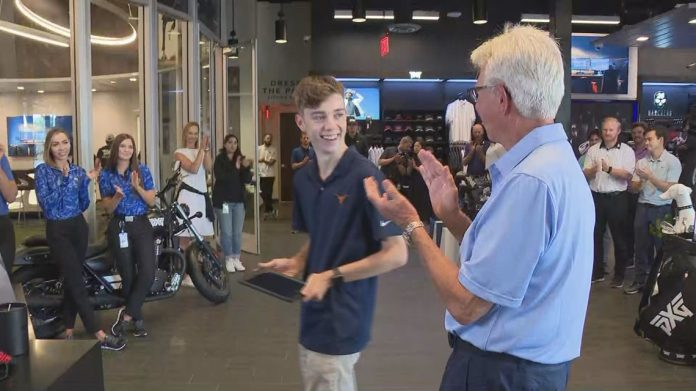 Make-a-wish teen in the Valley gets a world-class golf experience