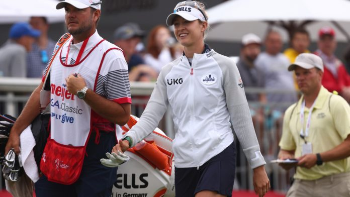 Nelly Korda smiles after her best career at Meijer Classic