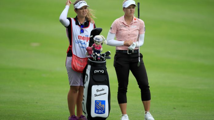 Brooke Henderson competes without a sister at the bag this week