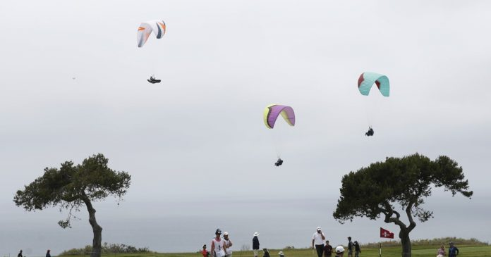 Paragliders have the best seating and views in Torrey Pines