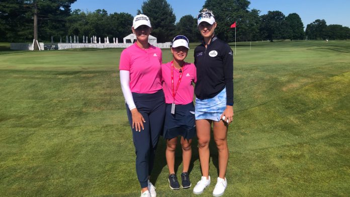 A hand born teen from Hudsonville joins the LPGA favorites on the green