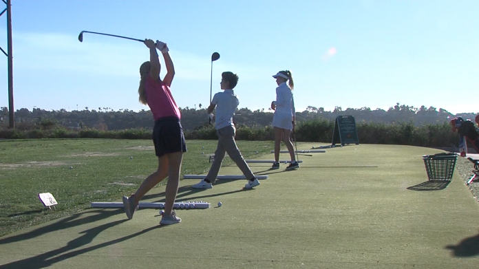 Local golf courses with an increase in younger golfers, especially girls -