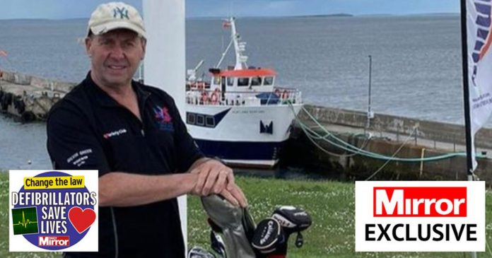 Golfer and son hit balls 1,200 miles to raise money for more defibrillators