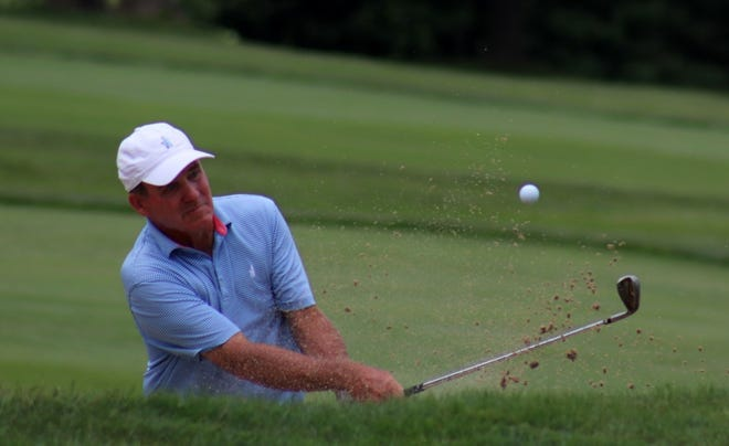 Holden's Fran Quinn shot a birdie on four of his last six holes on Saturday to improve the US Senior Open leaderboard.