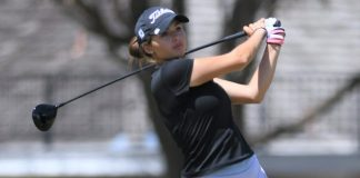 Alexa Pano, who tees off the South Course at Abilene Country Club during the Mackie Construction Professional Golf Classic on April 8, 2021, says she will retain her amateur status when she plays in Phase 1 of the Q School of the LPGA Tour next month .