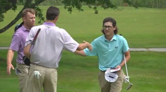 Topshams Caleb Manuel leads after the opening round at the 102nd Maine Amateur