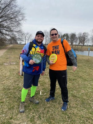 Evan Sullivan and Ryan Gammons, both teachers at Blue Academy Elementary, discovered disc golf as a hobby and turned it into a project to bring it to school.