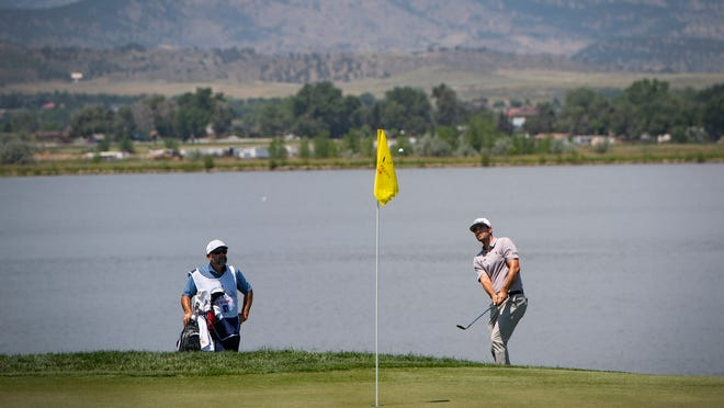Taylor Moore in action for the 2021 TPC Colorado Championship, PGA Tour card
