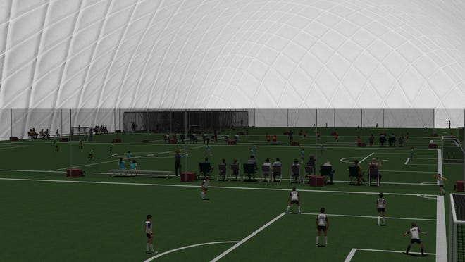 Somersworth NH receives sports dome near the Hilltop Fun Center