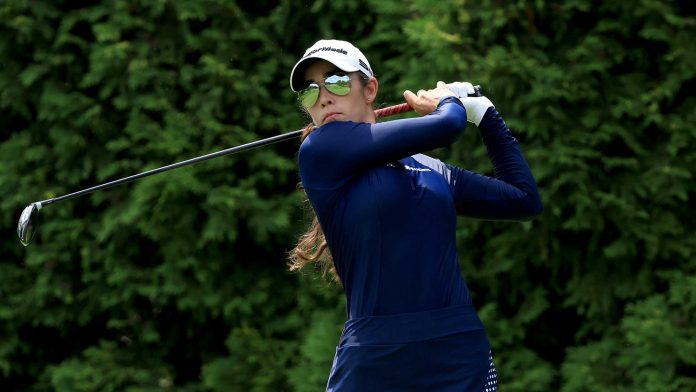 Fassi takes lessons from partner Lewis at Dow GLBI    LPGA