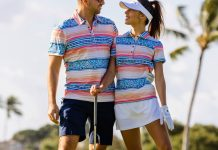 Golf clothing suitable for men and women