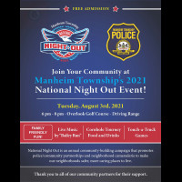 National Night Out Returns After COVID!  Join MTPD on August 3rd!