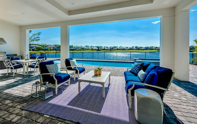The homes on the Treviso Bay Peninsula are designed to enjoy the outdoor lifestyle and phenomenal views of the lake and golf course.