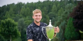 Marc Dingwall won the Forres Golf Club's Grant Cup after the rainy Five Day Open