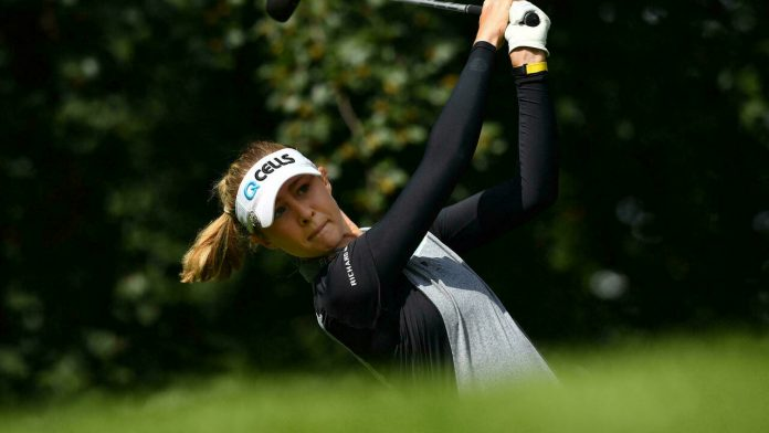 Korda joined the British Women's Open, led by Sagstrom and Kim