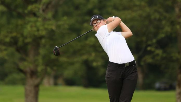 Annabel continues golf promotion at the Curtis Cup