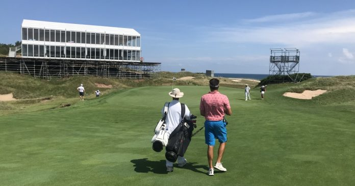 Internally, Whistling Straits plays before the Ryder Cup
