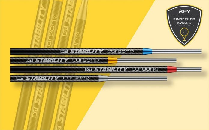 The BGT Stability carbon shaft consolidates your putting game like no other