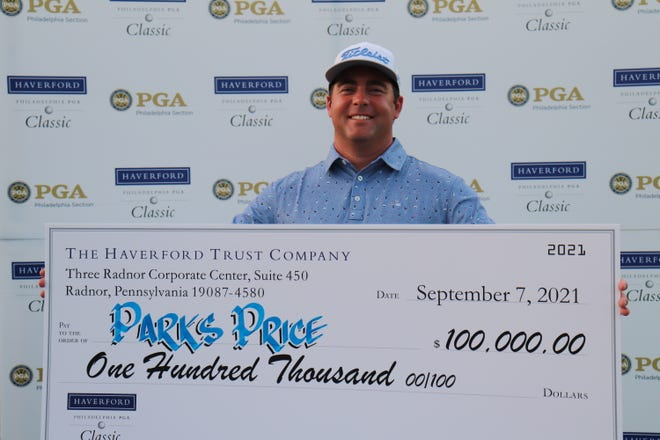 Country Club of York professional teacher Parks Price won the biggest golf payday of his life on September 7th.  His 25-foot playoff putt earned him the Philadelphia PGA Section title.