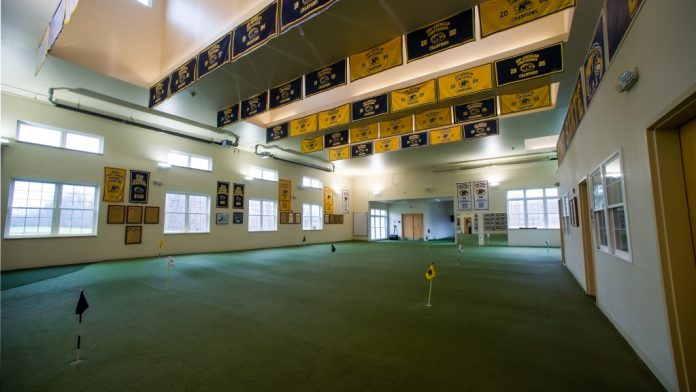 Check out their college golf facility