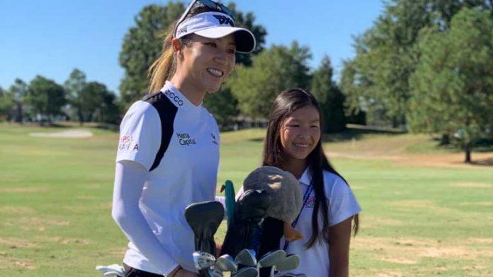 LPGA USGA Girls Golf member Claire Hollingsworth meets idol Lydia Ko    LPGA