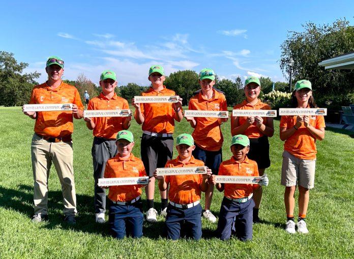 Carson Higginbotham & team reach the PGA Jr. League Championship