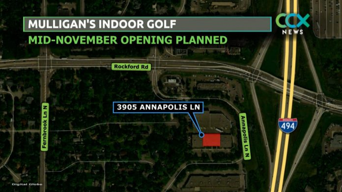 Mulligan's Indoor Golf Plans to open in Plymouth in mid-November