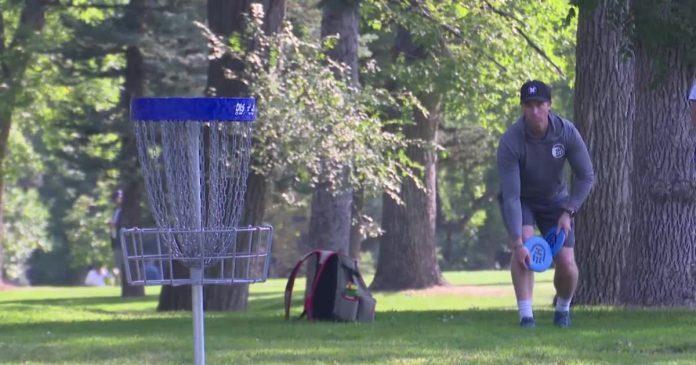 Disc golf tournament at Pioneer Park in Billings