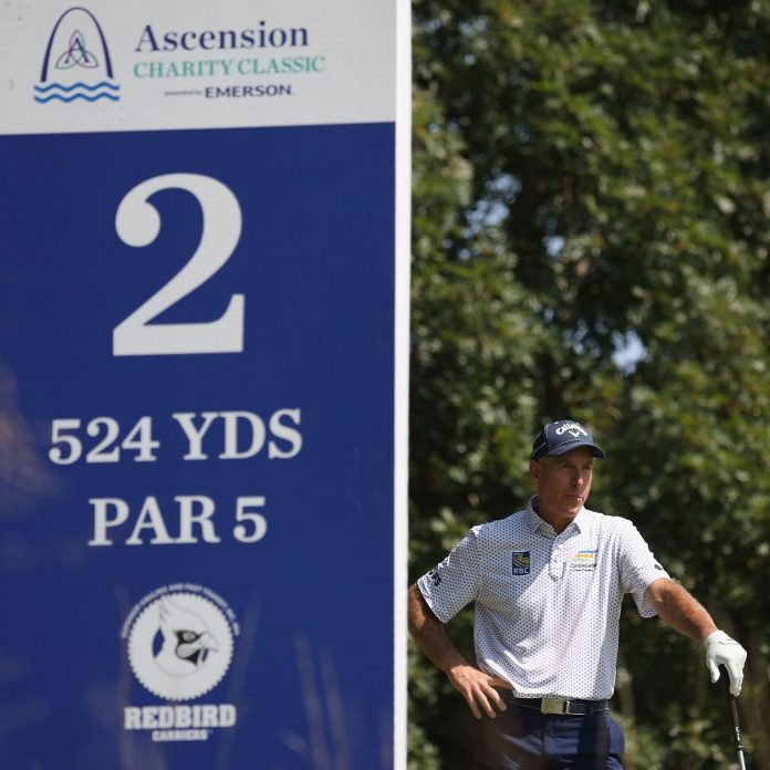 Paul Goydos, Doug Barron and Marco Dawson are tied in the PGA Tour Champions Ascension Charity Classic