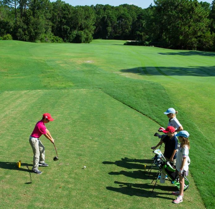 Young golfers can enjoy specials on Junior Golf Clinics on the Walt Disney World courses