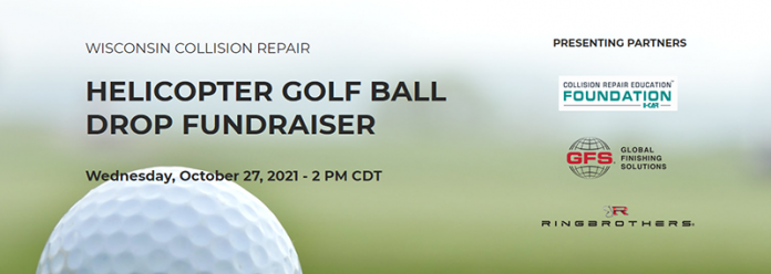 Global Finishing Solutions partners with Collision Repair Education Foundation, Ring Brothers on Helicopter Golf Ball Drop Fundraiser