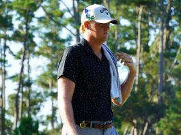 Tommy Morrison, nearly two meters tall, could be a giant in the game of golf